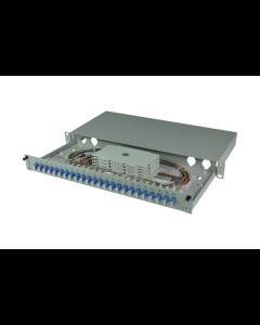 tBL® - LWL Spleißbox 19'' 1HE SM 24x LC Duplex OS2, spleißfertig vorbereitet