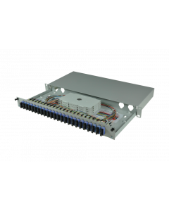 tBL® - LWL Spleißbox 19'' 1HE SM 24x SC Duplex OS2, spleißfertig vorbereitet