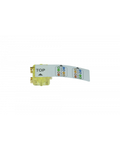 tBL® - termination block AWG 22-24,transparent yellow for installation cables