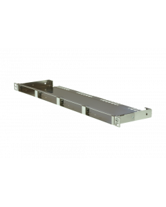 "tBL® - Breakout Panel 19""/0.5U straight blank w/o cover for 4x RJ45 DC 6fold 10GbE"