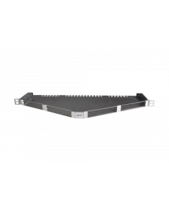 "tBL® - Breakout Panel 19""/0.5U angled blank w/o cover for 4x RJ45 DC 6fold 10GbE"