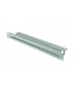 "tBL® - Patch Panel 19"" 1HE für 24x RJ45 Keystonemodule, RAL 7035"