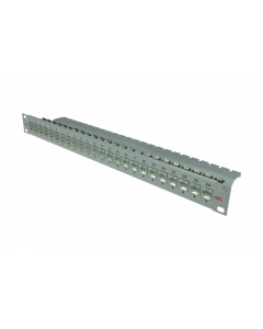 """tBL® - Patch Panel 19"""" 1U 24x RJ45 Cat.6A with LID w/o termination block"""