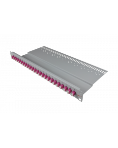 "tBL® - LWL Breakoutpanel 19"" 1HE 12x LC Duplex Adapter, grün APC"