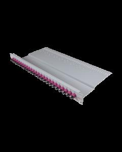 """tBL® - LWL Breakoutpanel 19"""" 1HE 12x SC Simplex Adapter, aqua"""