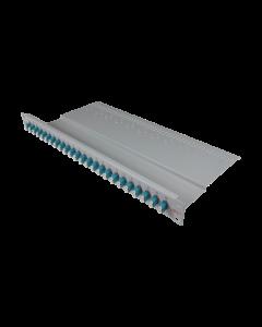 """tBL® - LWL Breakoutpanel 19"""" 1HE 24x LC Duplex Adapter, aqua"""