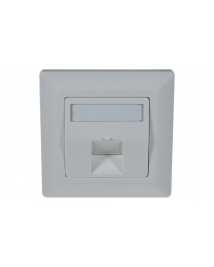 tBL® - wall outlet 45° for 1x Keystone Module incl. frame 80x80mm, RAL9010