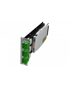 tDF® - FO splice to patch module 6x LC APC Quad SM 3U/7HP with pigtails 9/125µ OS2