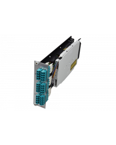 tDF® - FO splice to patch HD module 6x LC Quad MM 3U/7HP with pigtails 50/125µ OM3