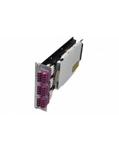 tDF® - FO splice to patch HD module 6x LC Quad MM 3U/7HP with pigtails 50/125µ OM4