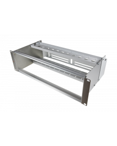 """tDF® - sub rack 19""""/3U/84HP with integrated loose tube management (5mm flexible tube)"""