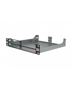 tML® - Rack Mount Enclosures 10''/1U black frontplate for 4 x modules