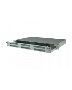tML® - Rack Mount Enclosures 19''/1U with drawer pull-out aluminum frontplate for 6 x modules