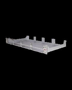 """tML® - Modulträger 19""""/1HE Edelstahlfrontplatte m. Mittelsteg f. 8 x Module"""