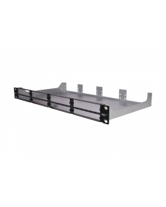 tML® - Rack Mount Enclosures 19''/1U black frontplate for 8 x modules