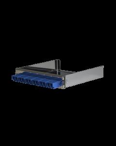 tML® - partial front panel with 6x LC Duplex SM blau for Rack Mount Enclosure 1U extendable