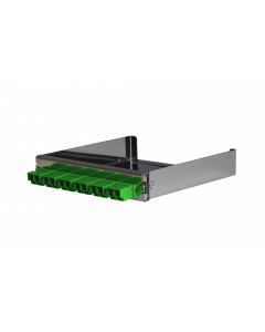 tML® - partial front panel with 6x LC Duplex SM green for Rack Mount Enclosure 1U extendable