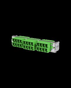 tML® - HD LWL Teilfrontplatte mit 12x LC Duplex OS2 Grün für Modulträger 1HE