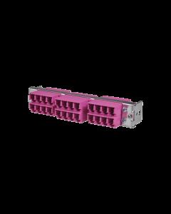 tML® - HD LWL Teilfrontplatte mit 12x LC Duplex OM4 Magenta für Modulträger 1HE