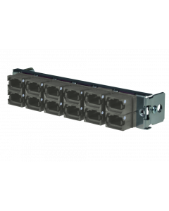 tML® - partial front plate with 12x MPO/MTP® Type B (Key Up/Up) for the Rack Mount Enclosure 1U