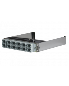 tML® - partial front plate with 12x MPO/MTP® Type B (Key Up/Up) for the Rack Mount Enclosure 1U extendable