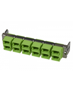 tML® - partial front plate with 12x MPO/MTP® Type A (Key Up/Down) OM5 Limegreen for the Rack Mount Enclosure 1U