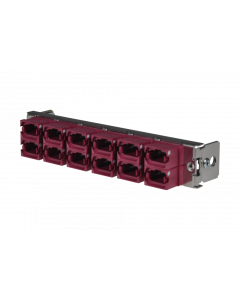 tML® - partial front plate with 12x MPO/MTP® Type A (Key Up/Down) OM4 magenta for the Rack Mount Enclosure 1U
