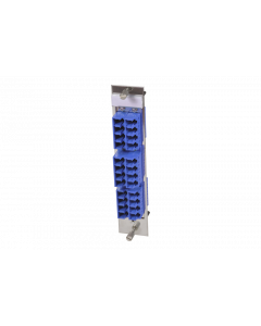 tML® - HD FO partial front panel with 12x LC Duplex OS2 blue for Rack Mount Enclosure 3U