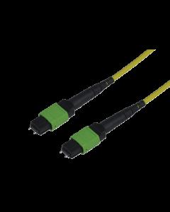 tML® Xtended - LWL Micro Distribution Trunkkabel beids. 1x MPO/MTP® m. Pins 12E9/125µ OS2 LSHF, Typ B, Länge: xx in m