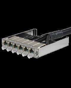 tML® - TP Trunkkabel beids. RJ45 DC 6er Modul m. LID (eins. beigelegt) Cat.6A UC Future 24x2xAWG26 LSHF für Modulträger 1HE ausziehbar