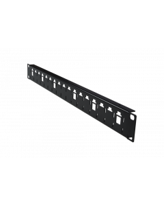 "tPM - Panel 19"" 1U without cable guide holders, black"