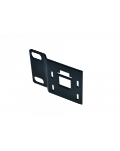 tPM - Panel straight without cable guide holders, mounting on the right, black