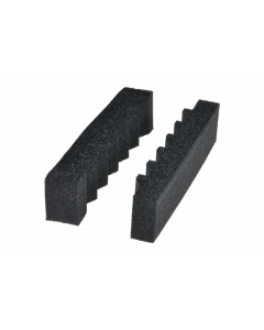 """tPM - Foam insert for cable guide holder, """"sawtooth shape"""", black"""