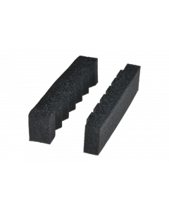 """tPM - Foam insert for cable guide holder, """"sawtooth shape"""", flattened, black"""