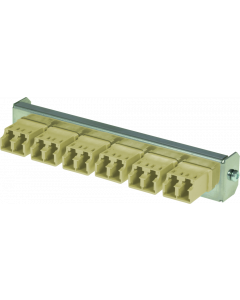 tSML - FO partial front panel Snap-In with 6x LC Duplex OM2 beige for tSML Module 0.5U