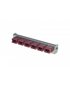 tSML - FO partial front plate Snap-In with 6x MPO/MTP® Key Up/Down OM4 magenta for tSML Module 0.5U