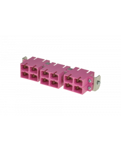 tSML - FO partial front panel Snap-In with 6x SC Duplex OM4 magenta for tSML Module 0.5U