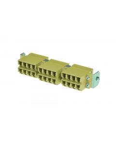 tSML - HD FO partial front panel Snap-In with 12x LC Duplex OM2 beige for tSML Module 0.5U