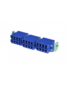 tSML - HD FO partial front panel Snap-In with 12x LC Duplex OS2 blue for tSML Module 0.5U
