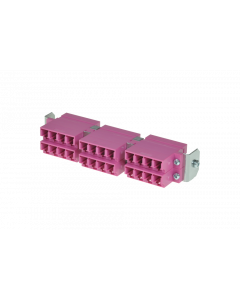 tSML - HD FO partial front panel Snap-In with 12x LC Duplex OM4 magenta for tSML Module 0.5U