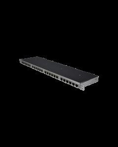 """tSML - TP Modul 19""""/0.5HE gerade 24x RJ45/4x Telco Gigabit Ethernet geschirmt"""