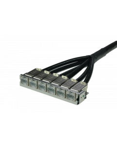tSML - TP Trunk Cable Snap-In both ends 6x RJ45 DC LID f. Module 0.5U, length: xx in m