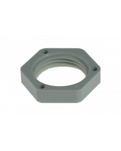 FO Locknut for cable gland M20, light grey